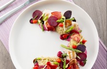 Quinoa with Grilled Chicken and Beetroot