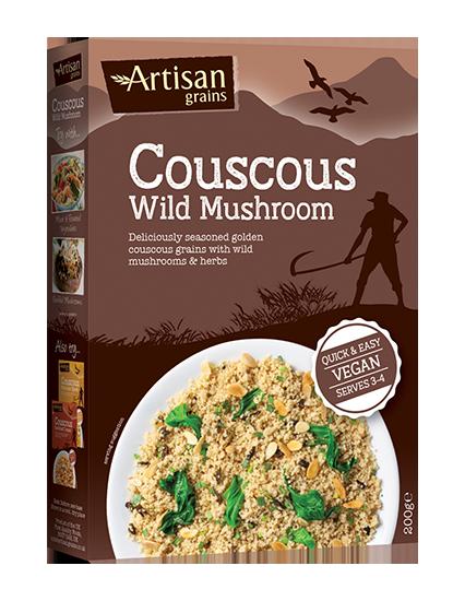Artisan Grains Wild Mushroom Couscous packaging box